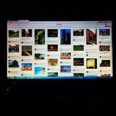Just buy a new all-in-one desktop with big screen for viewing Pinterest ; )