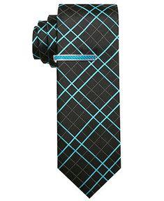 Alfani Red Tie, Skinny Power Grid - Mens Ties - Macy's