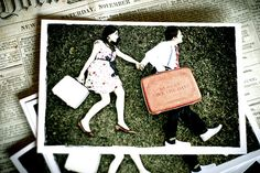 Save the Date Postcards by The Giessens, via Flickr