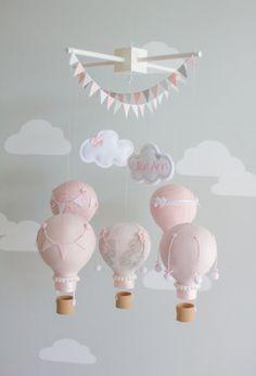 Hot Air Balloon Baby Mobile Nursery Decor by sunshineandvodka