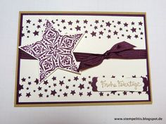 Stempelitis, Weihnachten, Karte, Sterne, Sternenkonfetti, Stampin up