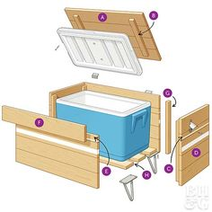 Get Summer Party Ready with This DIY Cooler Cabinet Get Summer Party Ready with This DIY Cooler Cabinet,Dies und Das outdoor cooler cabinet diagram home decor house projects side table wood projects stand ideas Wood Cooler, Patio Cooler, Diy Cooler, Outdoor Cooler, Diy Outdoor Bar, Diy Outdoor Kitchen, Diy Outdoor Furniture, Diy Patio, Cooler Stand