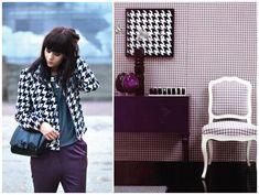 Pied de poule: fashion x decor #piedpoule #piedcoq