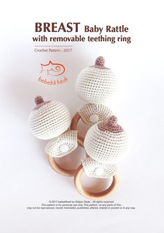 There are a lots of baby rattle and usually in an animal form. Yes they are adorable :) But babies know the breast and love the breast. Give the breast form to a baby and join the show :) The Pdf File includes 7 pages with pictures in US crochet terms  The finished size with ring is app. 14cm PATTERN IN ENGLISH. THIS LISTING IS FOR PATTERN ONLY!!! This pattern belongs to bebeklikedi designed by Gülşen Dede