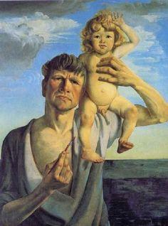 1930 Otto Dix (German artist, 1891-1969) Self Portrait with My Son