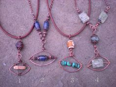 Evil Eye Amulet Necklaces by maggiezees on Etsy