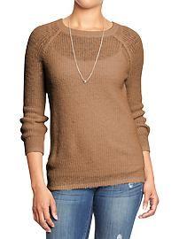 Women's Shaker-Stitch Sweaters