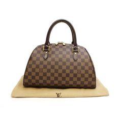 Louis Vuitton Ribera MM Damier Ebene Handle bags Brown Canvas N41434