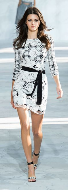 Kendall walked DVF's Spring 2015 runway show