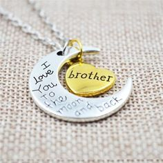 I Love You To The Moon And Back Family Gift Necklace