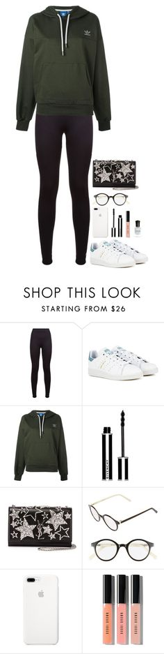 """""""Monday's 🤓😪"""" by beautyinl ❤ liked on Polyvore featuring adidas, Givenchy, Yves Saint Laurent, A.J. Morgan, Bobbi Brown Cosmetics, Deborah Lippmann, cute, casual, comfy and sneakers"""