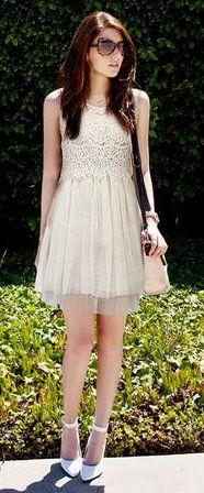 Lace Chiffon Dress.. need this!