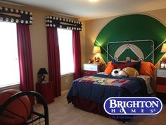 #boys room #sports #baseball - cute idea for boys bedroom | Brighton Homes® |   www.brightonhomes.com