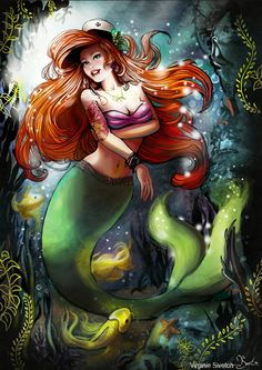 Ariel pin-up by Virgine Siventon