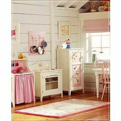 Daisy Pink Cupcake: ~White Kitchen Inspiration~ (Great look for the Bump out Porch- Girl's room)
