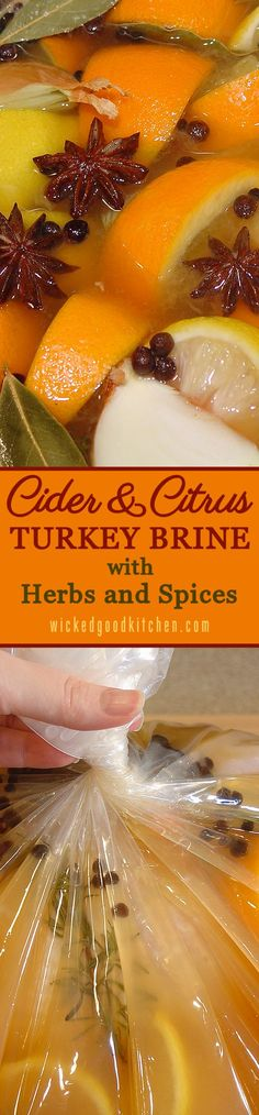 Cider & Citrus Turkey Brine with Herbs and Spices