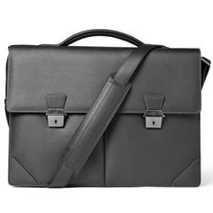 Dunhill side car leather briefcase