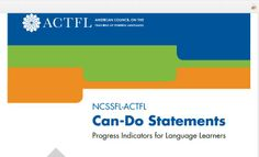 pdf of NCSSFL-ACTFL Can Do Statements (from ACTFL 2013)