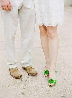 green wedding shoes #wedding #love #weddingideas #greenwedding #greenmotif