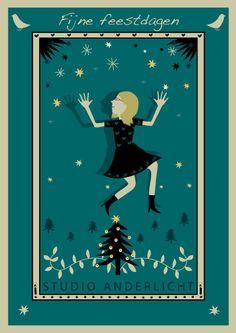 Christmascard designed bij Mevrouw Uyl