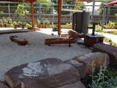"""Lovely outdoor space at Epping Views Kindergarten's - image shred by Yarn Strong Sista ("""",) Eyfs Outdoor Area, Outdoor Play Spaces, Outdoor Fun, Outdoor Decor, Family Day Care, Outdoor Play Equipment, Kindergarten Design, Outdoor Classroom, Outdoor Learning"""