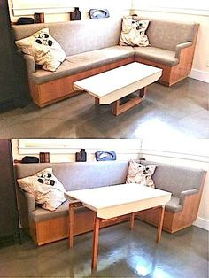 coffee table/dining table with a flip of the legs - 6 Organization Lessons to Learn from Tiny Houses
