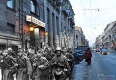 photographer who combines images from world war 2 era with images from present day... stunning