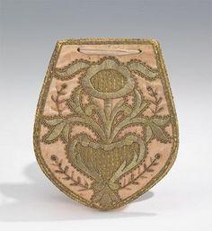 Russian Bag Silk, Metallic, and cotton.  1730-1750