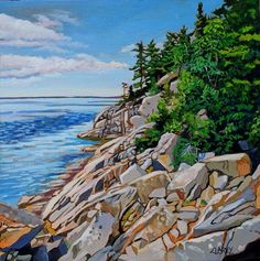Acrylic on Gallery Canvas Lake Superior Provincial Park Available at Koyman Gallery Canadian Painters, Canadian Artists, Thunder Bay Canada, Lake Photography, Amazing Paintings, Lake Superior, Landscape Paintings, Fine Art, Gallery