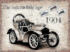 the automobile age 1904 - 599 x 449 Retro Cars, Vintage Cars, Antique Cars, Decoupage Vintage, Vintage Ephemera, Vintage Pictures, Vintage Images, Car Illustration, Illustrations