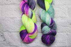 Busby on Platinum Sock, Lollipop Guild Yarns. #handdyedyarn #yarn #knitting #crochet #crafts