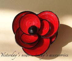 Quilled paper brooch by Yesterday's news - today's accessories