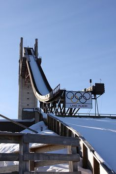 The Ski Jump at Lake Placid. A great place to visit and learn about the Olympic History of Lake Placid, NY