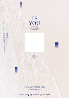 If You Wonder poster design Minimal Graphic Design, Graphic Design Posters, Graphic Design Typography, Branding Design, Book Design, Layout Design, Print Design, Design Design, Design Trends