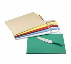 ColorCode Cutting Board 18'' x 24'' x 1/2'' tan dishwasher safe high-density polyethylene by Browne-Halco. $22.51. ColorCode Cutting Board, 18'' x 24'' x 1/2'', tan, dishwasher safe, high-density polyethylene, individually shrink-wrapped, NSF, USA made Features Size: 18'''' x 24'''' Construction: plastic NSF information: NSF approved Thickness: 1/2''''