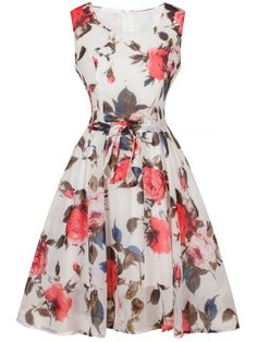 GET $50 NOW | Join RoseGal: Get YOUR $50 NOW!http://www.rosegal.com/vintage-dresses/retro-style-floral-print-belted-811330.html?seid=1962221rg811330