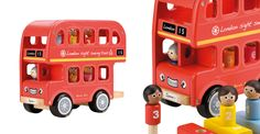 Bernie's Number Bus.This push along, wooden toy is wonderfully solid and rather irresistible; the wood is smooth and rounded, the passengers sit in their matching coloured and numbered seats. https://www.gltc.co.uk/product/bernies-number-bus/10002340