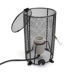 Reptile Heating Lamp Holder Ceramic Light E27 Clamp Reflector Cylinder Black Tortoise Terrariums Amphibian Snake Chicken Brooder #Affiliate