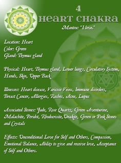 Heart chakra... re-pinned by http://Reiki-Master-Training.com