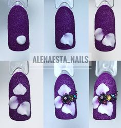 Acryl Nails, Bling Acrylic Nails, Acrylic Nail Art, Nail Art Diy, Cool Nail Art, 3d Nail Designs, Pedicure Designs, Nails Now, 3d Nails