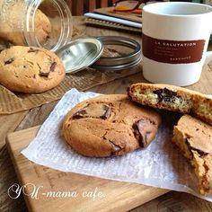 HMで簡単お菓子♡チョコチャンククッキー♡メイソンジャー。