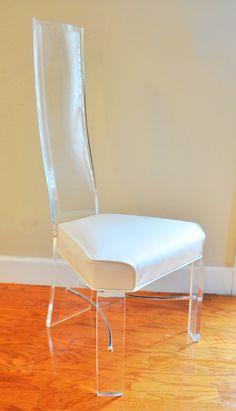4 available 1970s high back lucite chairs from Hill by GregBuzby, $400.00