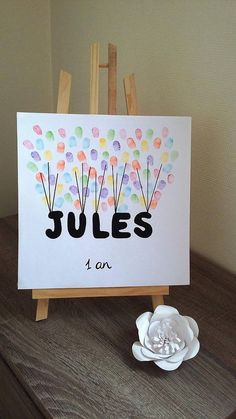 "Fingerprint tree ""name"" with 1 ink 6 colors offered. """" birthday, baby shower, birth, communi… - Baby Names Diy Birthday Decorations, Baby Shower Decorations, Baby Shower Simple, Boys Bday Cakes, Diy For Kids, Crafts For Kids, Fingerprint Tree, Mom Birthday Gift, Cake Birthday"