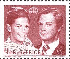 "Sweden 1kr ""Royal Weding"" 1976. Czeslaw Slania sc."