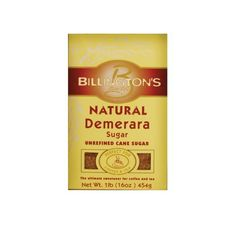 Billington's Natural Demerara Sugar | gluten-free, vegan | #canesugar #rawsugar #demerarasugar #vegansugar