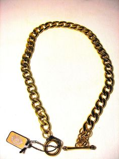 NWT Juicy Couture Toggle Necklace Gold Tone Retail $58 #JuicyCouture #Chain