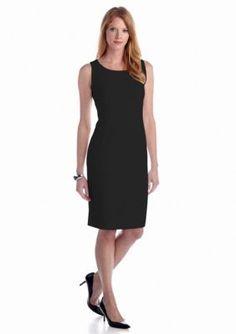 Kasper  Petite Solid Sheath Dress