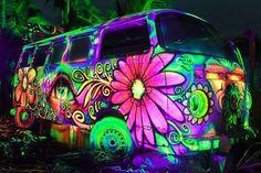 Blacklight VW bus.  Enough said.  ;)
