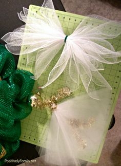 deco mesh angel tree topper assembly