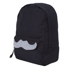 Mustache Backpack ❤ liked on Polyvore